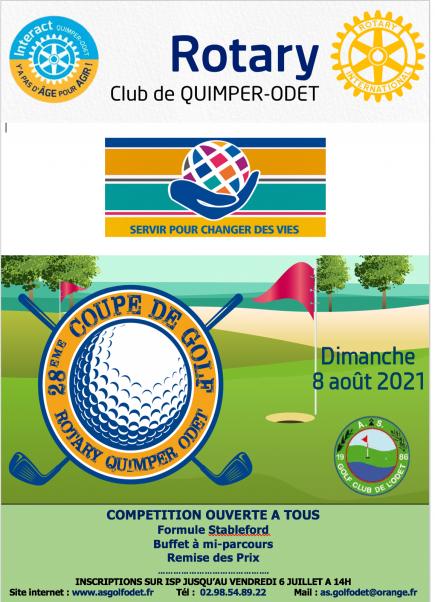 28ème Coupe de Golf Rotary Club Quimper-Odet